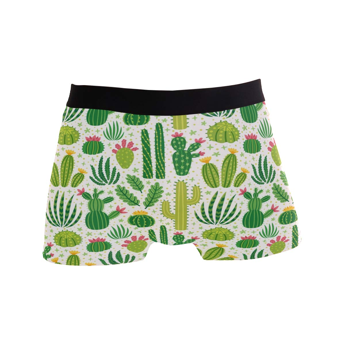 Wamika Cactus Men/'s Boxer Briefs Green Plant Underwear Stretchable S-XL
