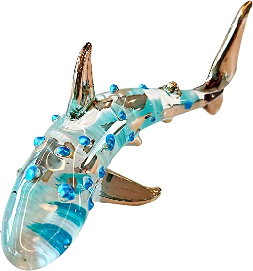 Tiny Cute ceramic figurine shark~nice gift from Thailand