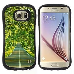 "Pulsar iFace Series Tpu silicona Carcasa Funda Case para Samsung Galaxy S6 , Spring Drive Libertad árboles verdes"""