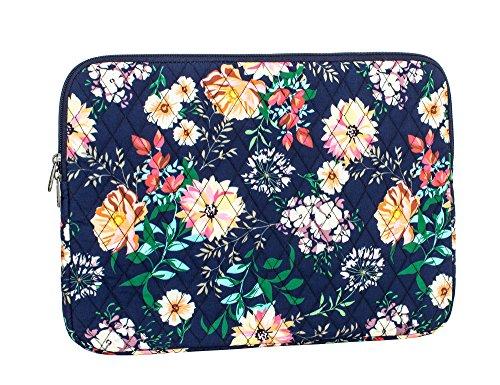 Leaper Fashion Floral Laptop Sleeve 15 Inch 15 Case 15.6 Laptop Bag Notebook Sleeve Dark ()