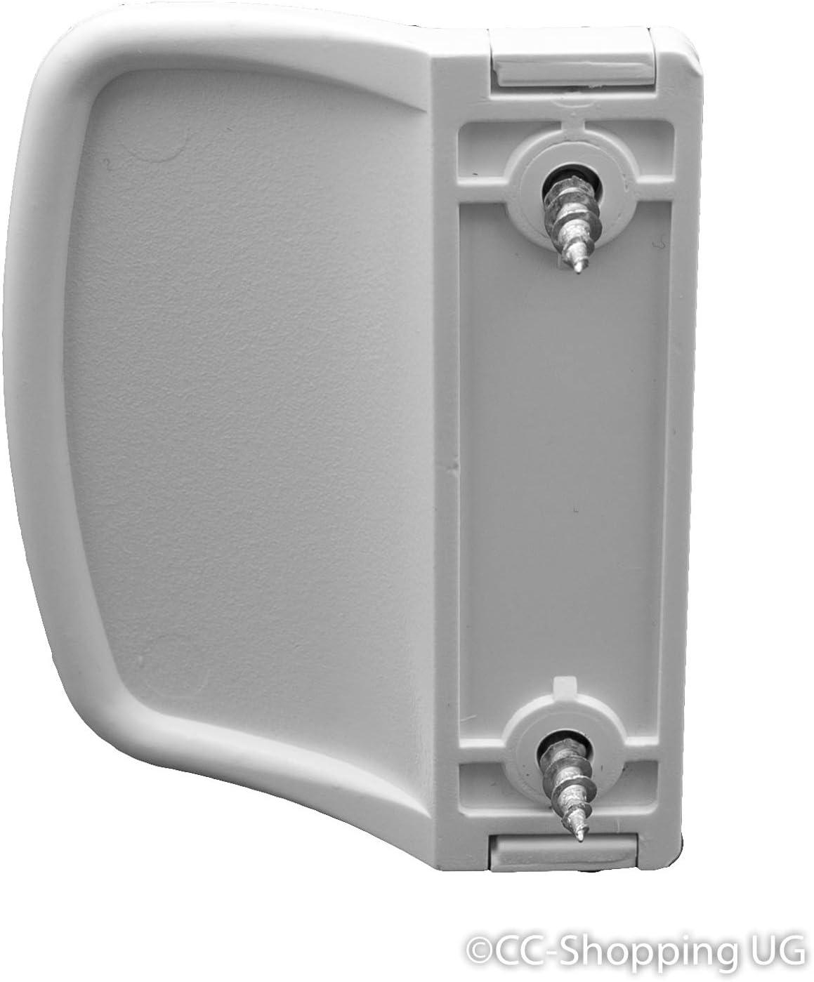CC-Shopping 911 Poign/ée de Porte de Balcon Arrondie avec 2 vis de Montage incluses 70 x 55 x 20 mm 70x55x20 mm blanc