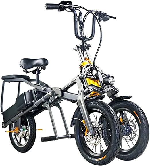 XWQXX Vespa eléctrica Plegable de Tres Ruedas, Bici eléctrica ...