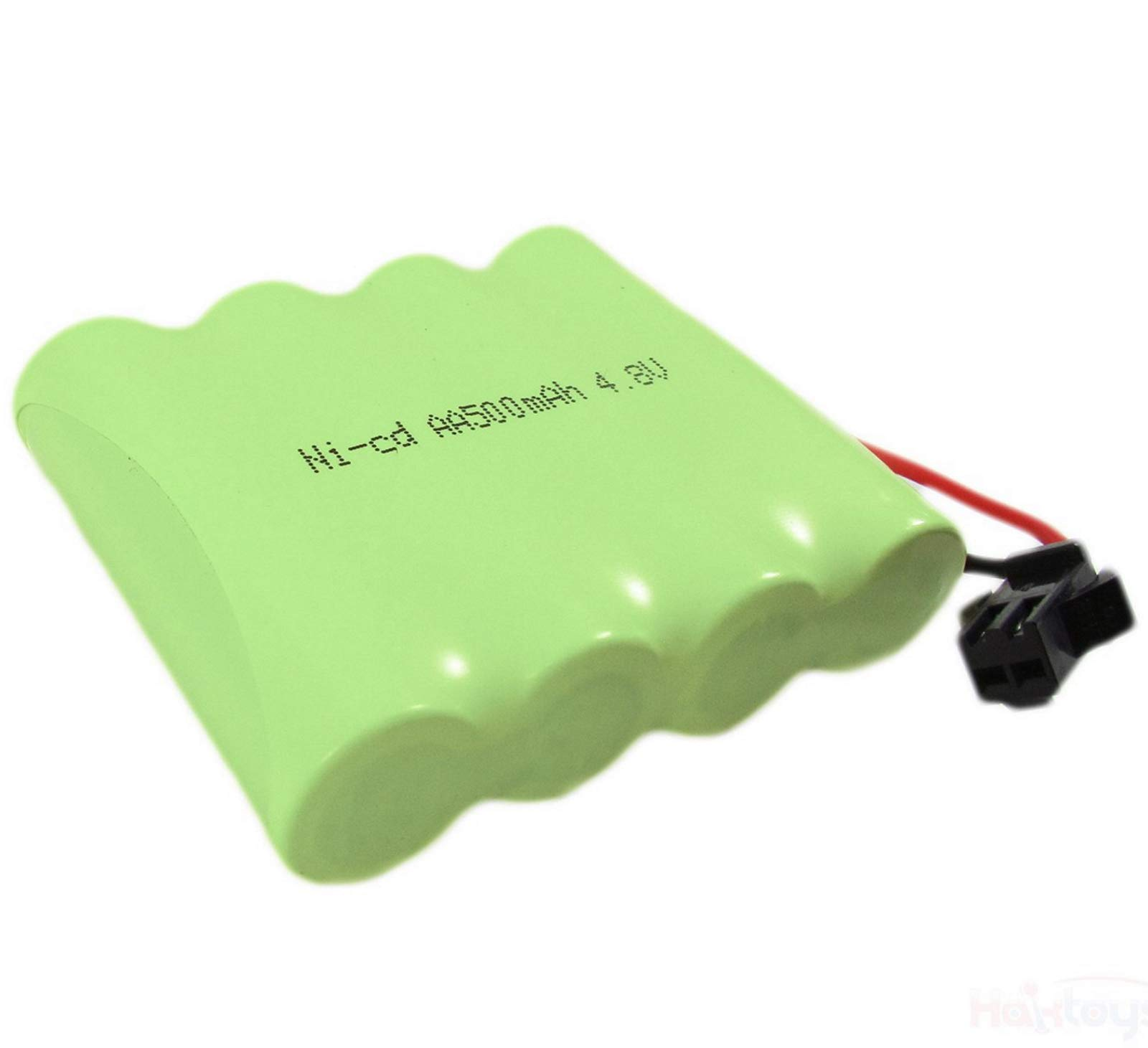 Ni-cd 4.8V 500mAh Replacement Car Battery Part Compatible with Haktoys HAK101 (Not HAK104) RC Stunt Car and Other Compatible RC Hobby Products - Colors May Vary