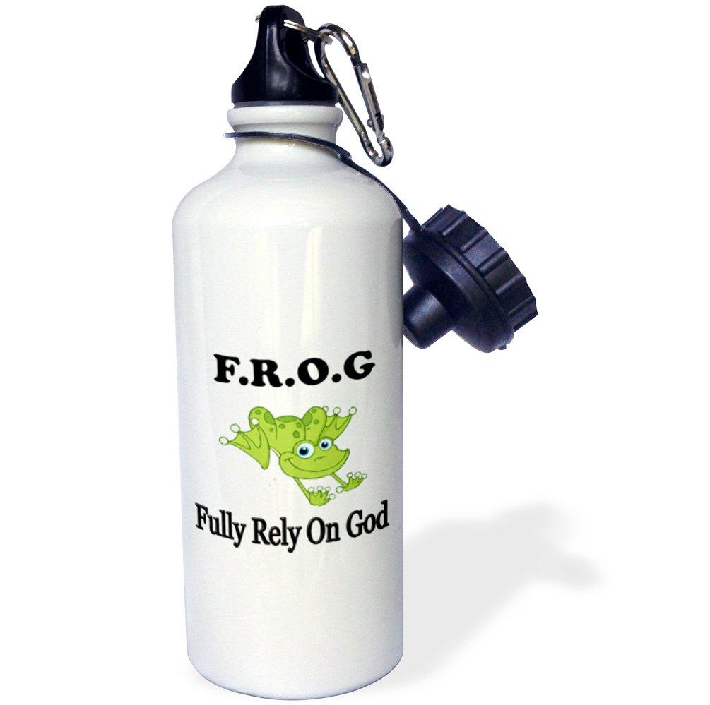 3dRose wb_149836_1 Keep Calm & Smoke Weed Sports Water Bottle, 21 oz, Brown