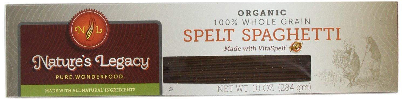 VitaSpelt Organic Spaghetti Whole Grain Spelt Pasta, 10-Ounce Boxes (Pack of 12)
