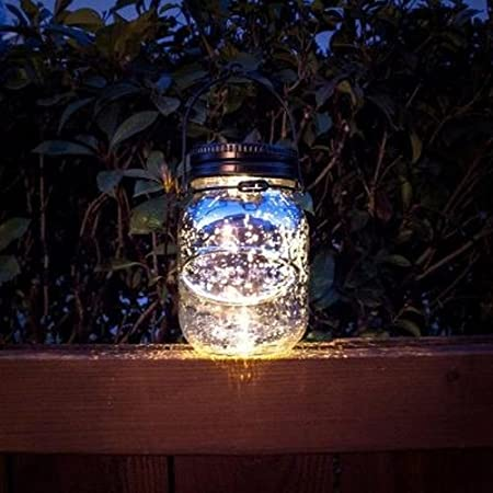 Malibu Solar Mason Jar LED Lamp. Glass Firefly Jars That Light Up The Garden  Or Patio For Hours. Ambiant Lighting When Hanging Around The Home And Great  ...