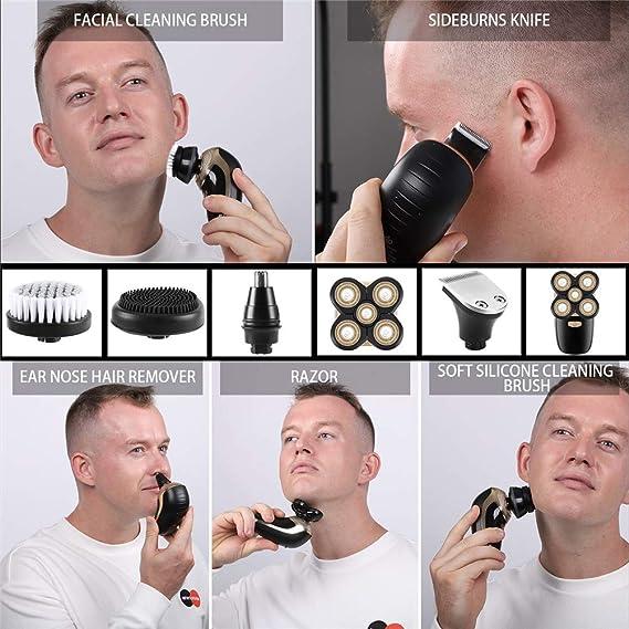 Maquina De Afeitar,5 En 1 Pelo De La Nariz Afeitadora Cabeza Hombre Afeitadora Barba Hombre 4d Impermeable Recortadora De Barba Para Hombres ...