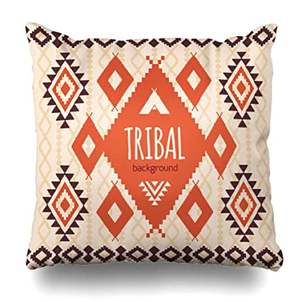 Amazon com: Ahawoso Throw Pillow Cover Navajo Tribal Native