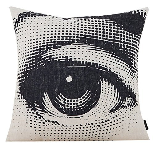 MR FANTASY Cotton Linen Throw Pillow Case Decorative Cushion Cover Square Pop Art Personalized Eye -