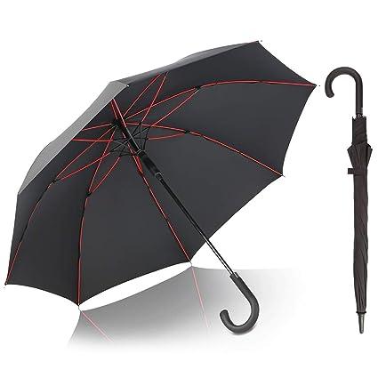 b2a74d0f3dc7 G4Free Classic Stick Umbrellas 52 Inch Golf Umbrella Windproof Large J  Handle Hook Handle Automatic Open Cane Umbrella for Men Women