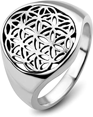 Free Gift Packaging Sterling Silver Double Filigree Flower Ring