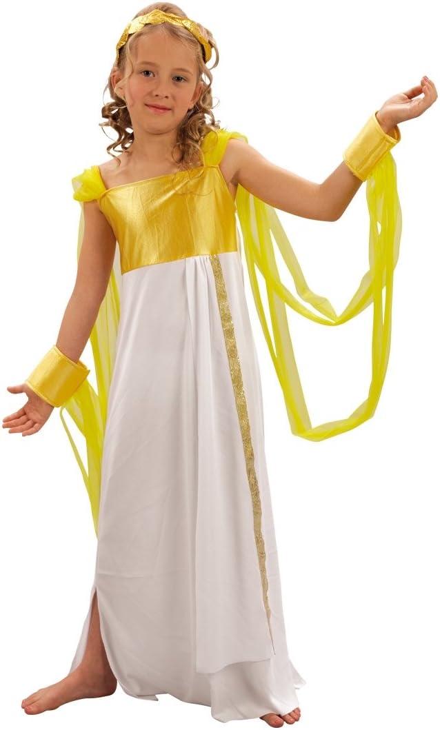 Niña con disfraz de niño lujo Afrodita griega. Tamaño: 7-9 años ...