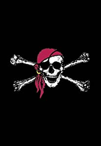 "Briarwood Lane Red Bandana Summer Garden Flag Jolly Roger Nautical 12.5"" x 18"""