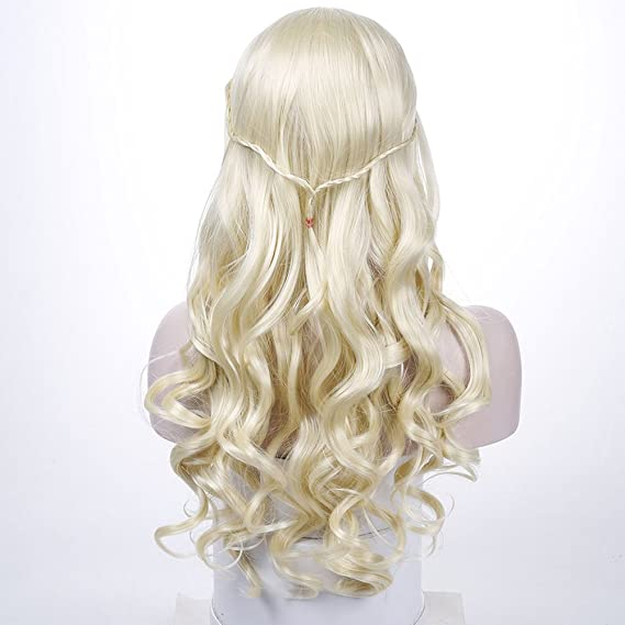 Amazon.com : AOSI WIG long Curly Hair Cosplay Wig for Game of Thrones Daenerys Targaryen khaleesi Synthetic Wig Anime Black Hair : Beauty