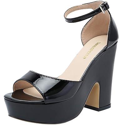 SHOESFEILD Women's Ankle Strap Platform Heels Chunky Block High Heel Summer Dress Sandals | Platforms & Wedges