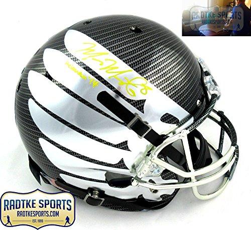Marcus Mariota Autographed/Signed Oregon Ducks Schutt Full Size Carbon Fiber Wing Helmet with