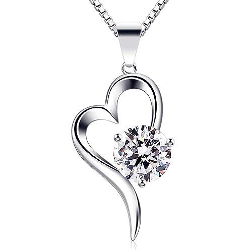 c73559ba4fdc B.Catcher Collar Mujer Plata de Ley 925 corazón Colgante con Regalo  Originales Cadena 45cm Longitud  Amazon.es  Joyería