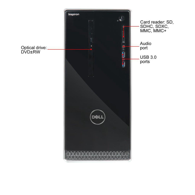 Dell Inspiron i3668 Desktop - 7th Generation Intel Core i7-7700 Processor up to 4.2 GHz, 32GB DDR4 Memory, 256GB SSD + 2TB SATA Hard Drive, Intel HD Graphics, DVD Burner, Windows 10 Pro by Dell_Computers (Image #7)
