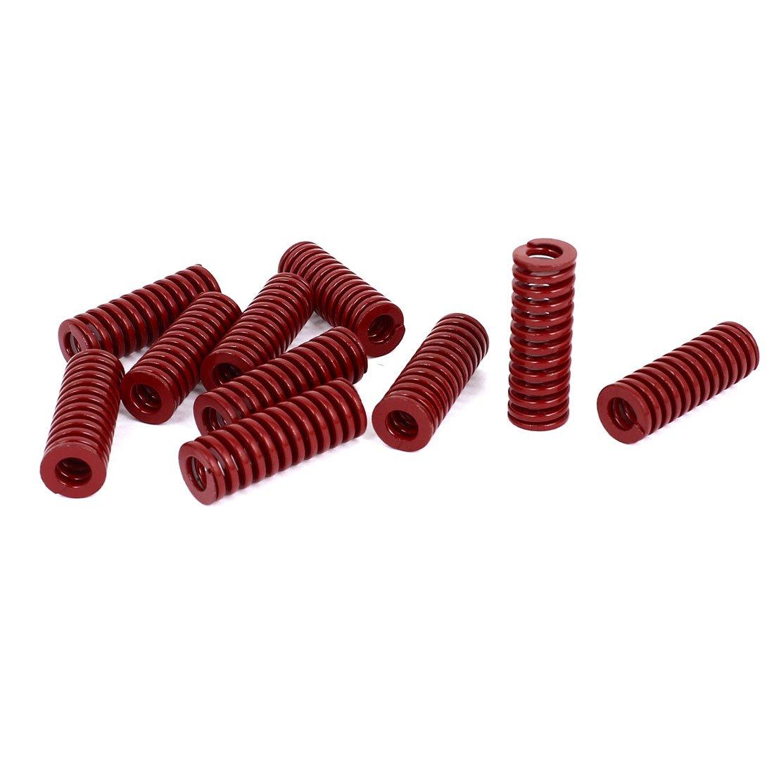 sourcingmap/® Muelle de Compresi/ón Rojo de 14mm Di/ámetro Exterior 40mm Largo Media Carga de Moldes Sellado 10pcs