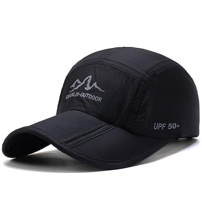 f9f40592722e8 2019 Ultra-Thin Quick Drying Folding Baseball Cap Men Women Summer Hat  Travel Sun Shade