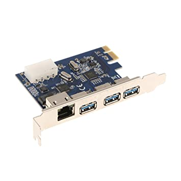 MagiDeal Tarjeta Pci Express Usb3.0 Plus Tarjeta de Adaptador Ethernet Gigabit para Escritorio Herramientas