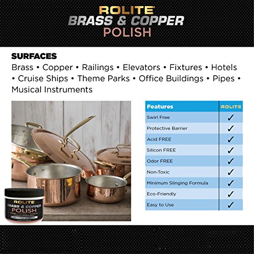 Rolite Brass & Copper Polish (10lb) Instant Polishing & Tarnish Removal on Railings, Elevators, Fixtures, Hotels, Cruise Ships, Office Buildings by Rolite (Image #3)