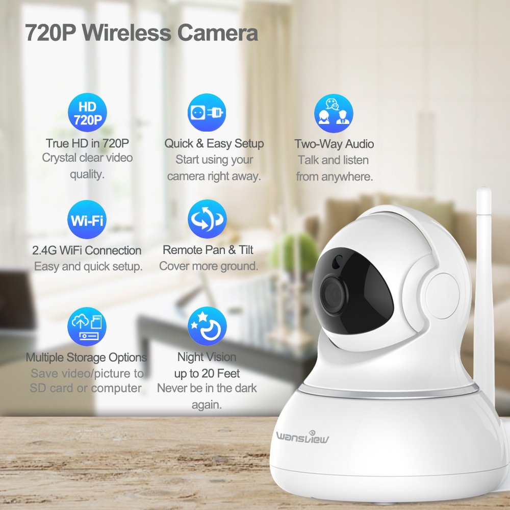 Wansview HD IP Camera, Wireless Home Security Surveillance WiFi