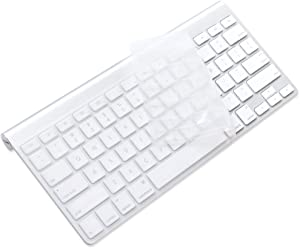 ProElife Ultra Thin Silicone Keyboard Protector Cover Skin for Apple Wireless Keyboard with Bluetooth MC184LL/B (Model: A1314, U.S Layout) (Not Fits iMac Magic Keyboard), Clear