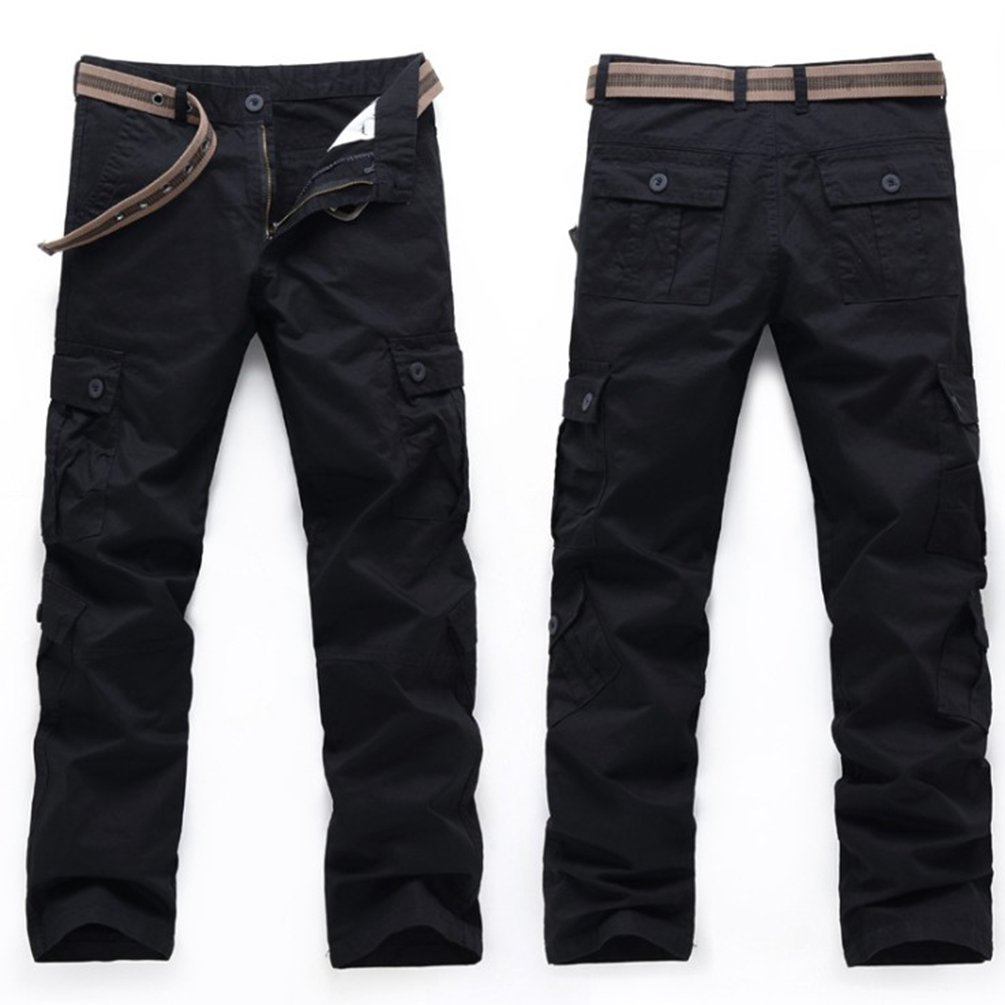 Baymate Homme Multi Poches Vintage Style Combat Militaire Cargo Pantalons