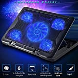 "Best 17 Inch Laptop Cooling Pads - [Ultra-Quiet] 11""-17"" Laptop Cooler Cooling Pad - Slim Review"