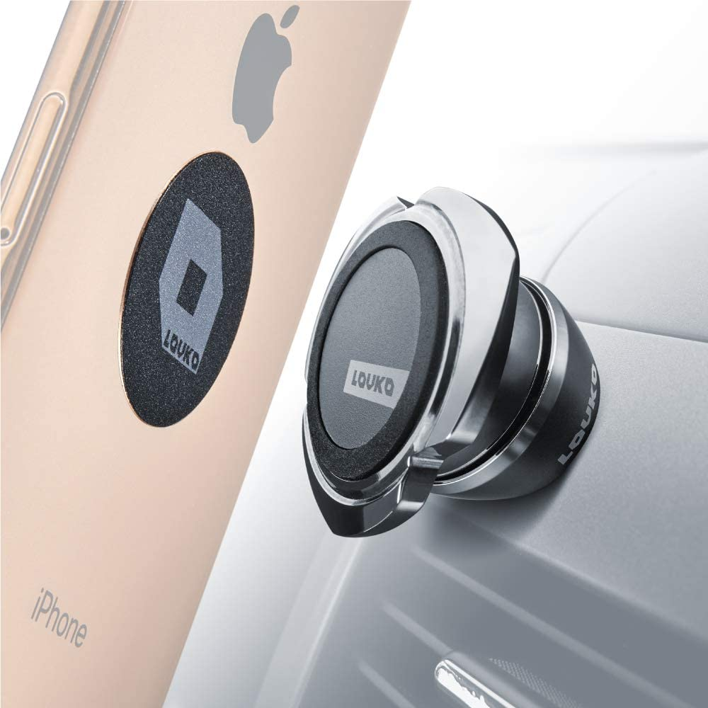 Cell Phone Holder for Car Dashboard Universal Auto-Grip Car Phone Mount Magnetic iPhone Car Mount Compatible with Any Smartphone or GPS