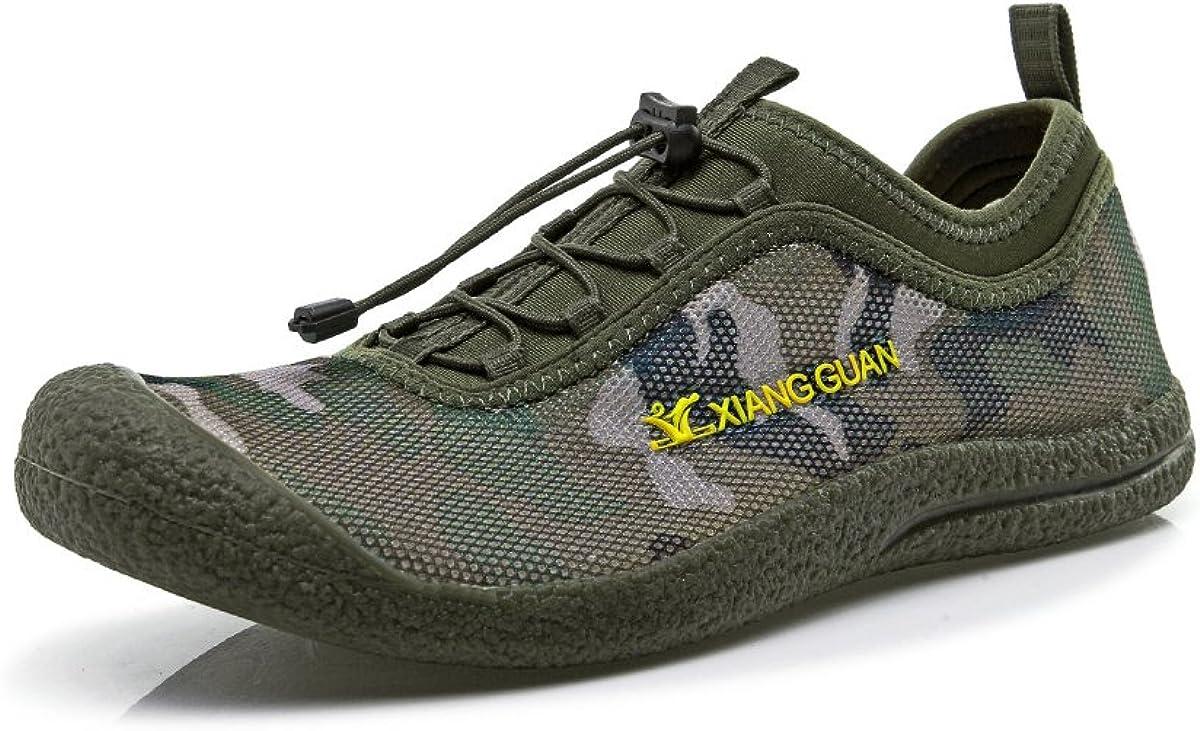 XIANG GUAN Mens Mesh Camouflage Quick Drying Aqua Water Shoes Comfortable Lightweight Walking Sneakers