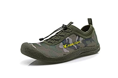 42fd7106880a XIANG GUAN Mens Mesh Camouflage Light and Resistant Water Shoes Quick Dry  Multi-Uses Shoes
