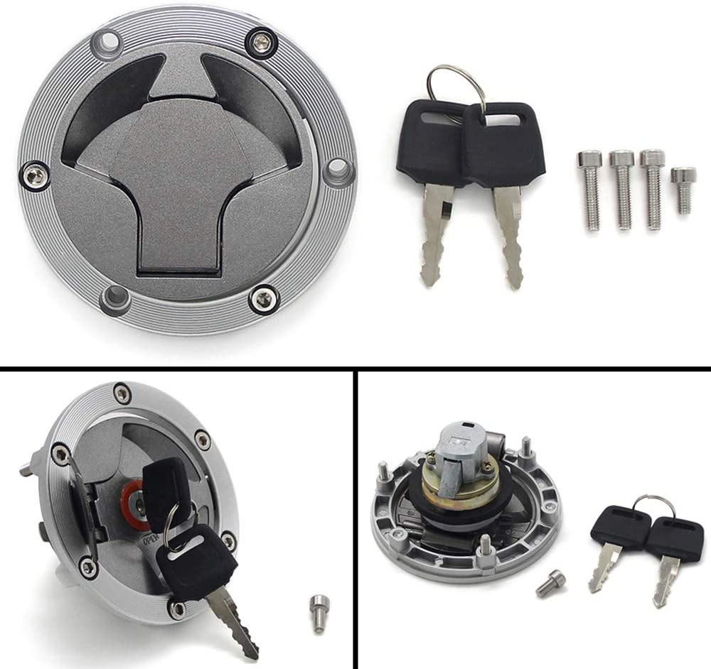 Gas Locking Cap Fuel Gas Tank Locking Cap Lid Cover Keys - For Kawasaki ER250 300 Z250 Z300 2013-2016;Kawasaki EX250 Ninja 250 2008-2014;Kawasaki EX300 Ninja 300 2013-2017;Kawasaki Z250SL