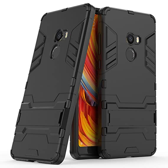 new style 01d76 ffd45 Xiaomi Mi Mix 2 Case, Xiaomi Mi Mix 2 Hybrid Case, Dual Layer Shockproof  Hybrid Rugged Case Hard Shell Cover with Kickstand for 5.99'' Xiaomi Mi Mix  2