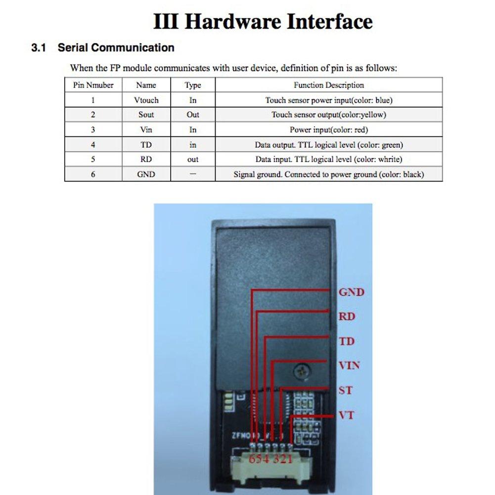 Optical Fingerprint Reader Sensor Module Red Light for Arduino Mega2560 UNO R3