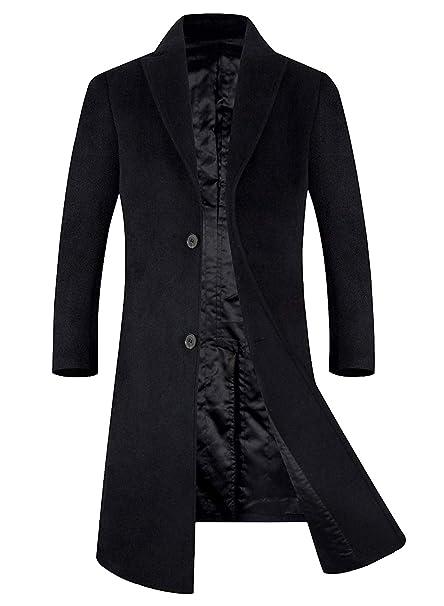 Amazon.com: Abrigo de mezcla de lana para hombre de APTRO ...