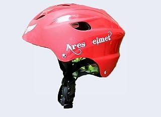 xy Equipo de Protección de Los Deportes Personalidad Casco del Casco de Ares Casco de Ruedas Casco de Montar Al Aire Libre Casco Herramienta,Rojo,Un tamaño