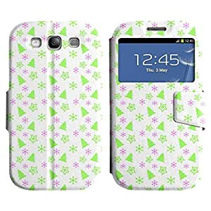 Be-Star Colorful Printed Design Slim PU Leather View Window Stand Flip Cover Case For Samsung Galaxy S3 III / i9300 / i717 ( Green Tree ) Kimberly Kurzendoerfer