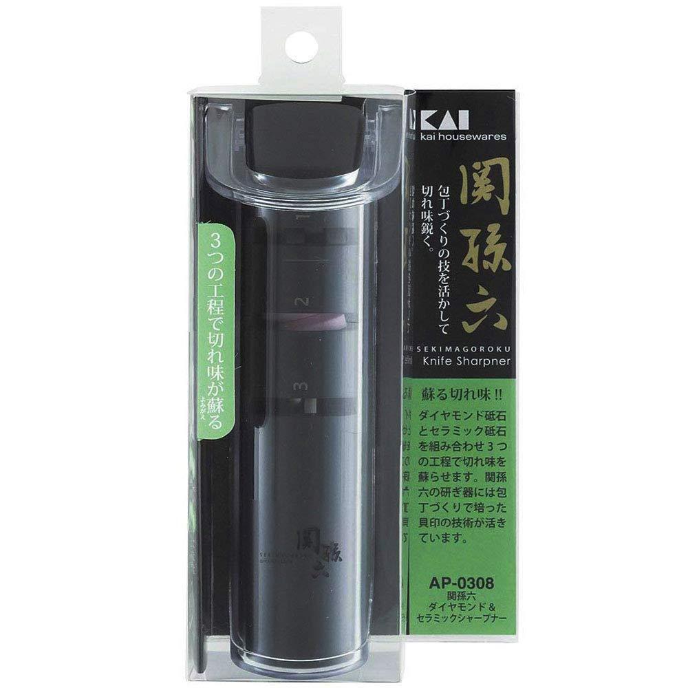 KAI AP-0162 Seki Magoroku Afilador de cuchillos pl/ástico