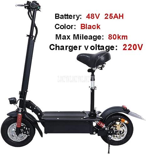 Knewss 48V 25AH 11 Pulgadas Rueda Plegable Scooter eléctrico para ...