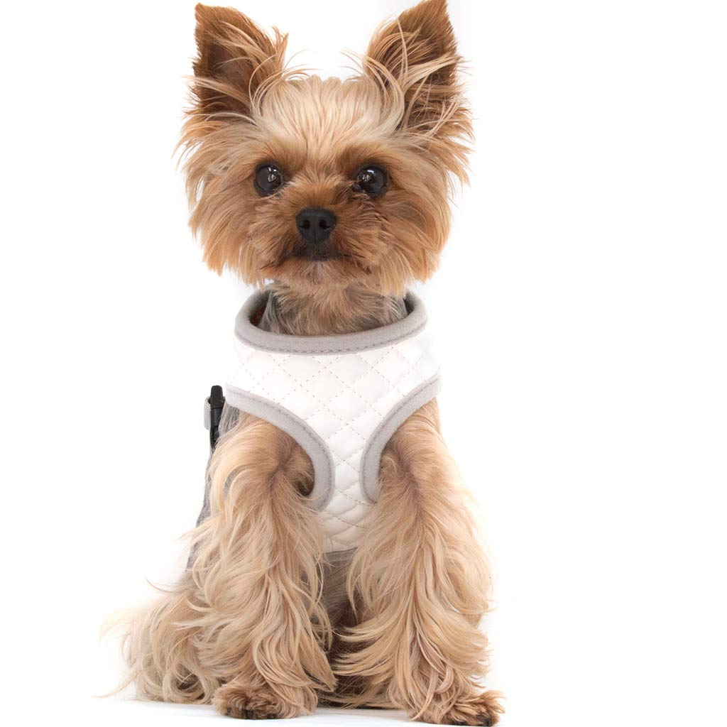 ZuGoPet Quilted Harness White (Extra Small 11''-13'', White)