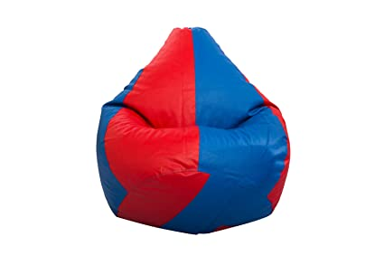 Styleco XL Bean Bag Cover Without Beans  Red and Blue