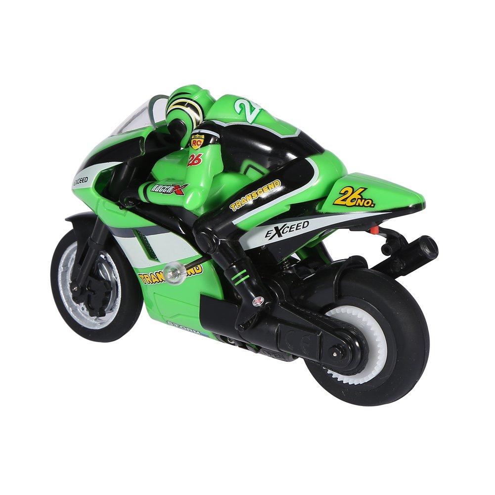 Verde Zouminy 2.4GHz Control Remoto Motocicleta RC Moto Modelo de Juguete