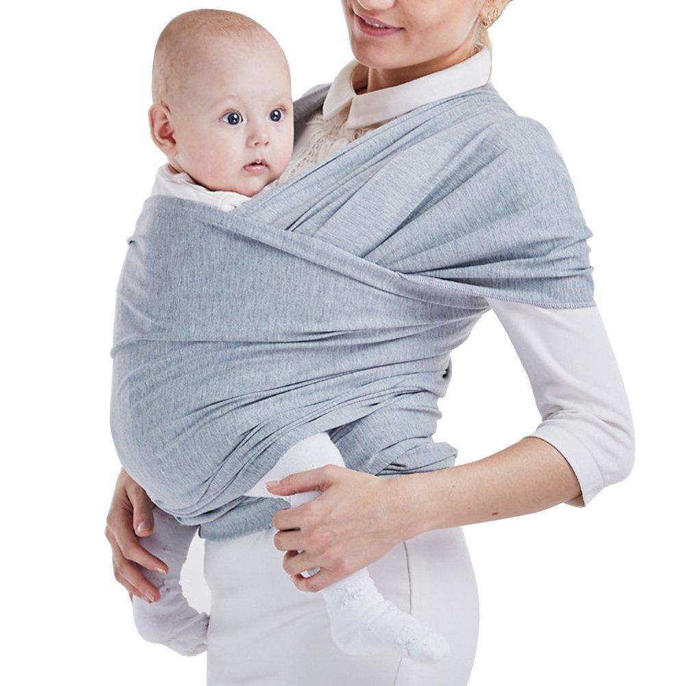ARAUS-Echarpe de Portage Pour Transporter le Bébé, Sac à dos Porte Bébé CuddleBug pour Enfant Nouveau-né (gris)