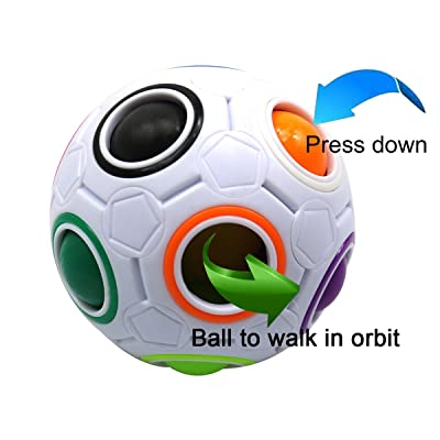 FC MXBB Fidget Ball Fidget Cube Intelligence Rainbow Magic Ball Cube 3D Puzzle Football Design Fidget Toy: Toys & Games