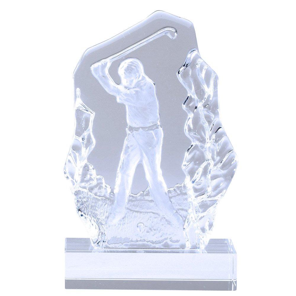 賞とギフトR Us 4 – 1 / 2 x 7 – 1 / 4インチSculptedオスガラスゴルフトロフィー、Includes Personalization B07FFBPLF8