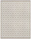 Lightweight Outdoor Reversible Plastic Nirvana Rug (8 X 10, Taupe/White)