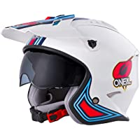 Oneal Volt Helmet MN1 White/Red/Blue Casco Moto MX-Motocross