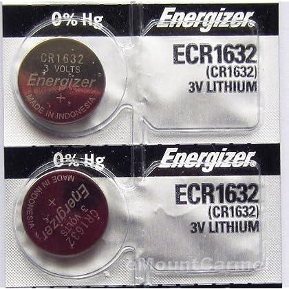 Energizer CR1632 Lithium Battery 3V (2 Batteries per pack)